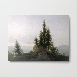 Caspar David Friedrich - View of the Elbe Valley Metal Print