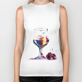 Glass of Sunset Biker Tank