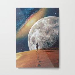 Alone With The Moon II Metal Print