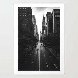 New York City (Black and White) Art Print