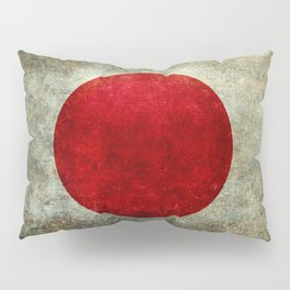 National flag of Japan - Super Grunge Pillow Sham