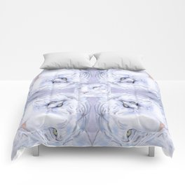 White Tiger Pattern Comforters