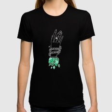 synapses and nerves X-LARGE Womens Fitted Tee Black