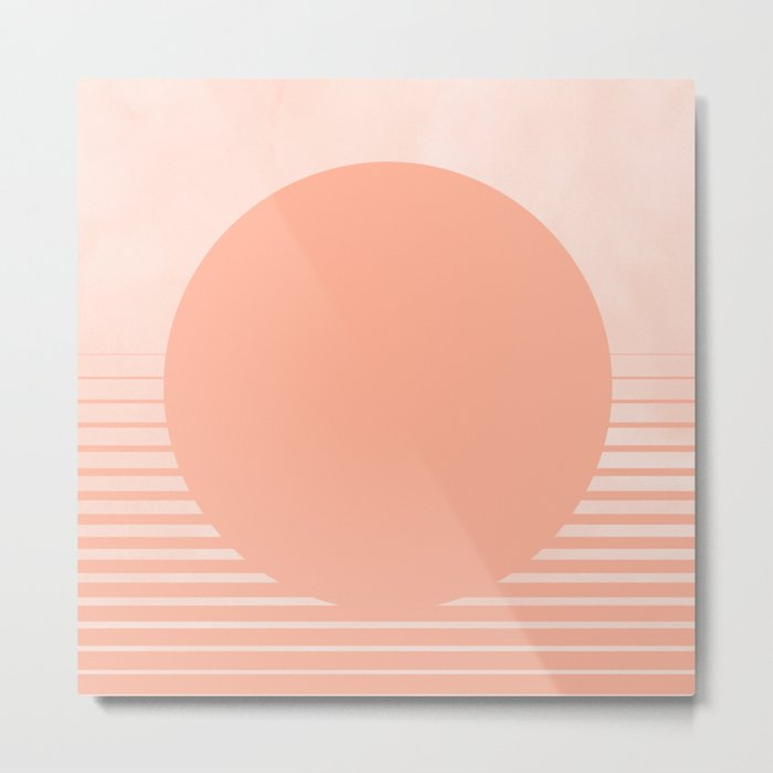 The Sweet Life Collection - Peach Coral Sun Gradient Metal Print