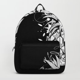 Pineapple with hibiscus blossom Backpack