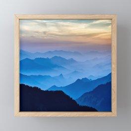 Mountains 11 Framed Mini Art Print