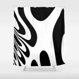Black and White Zebra Abstract Marble Pattern Design  Shower Curtain
