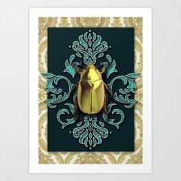 GOLDEN BEETLE Art Print