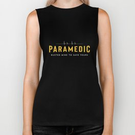 Paramedic School Graduation Gift TShirt For Paramedic Busted Biker Tank