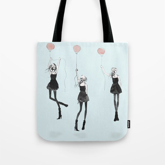 Girls Afloat Tote Bag