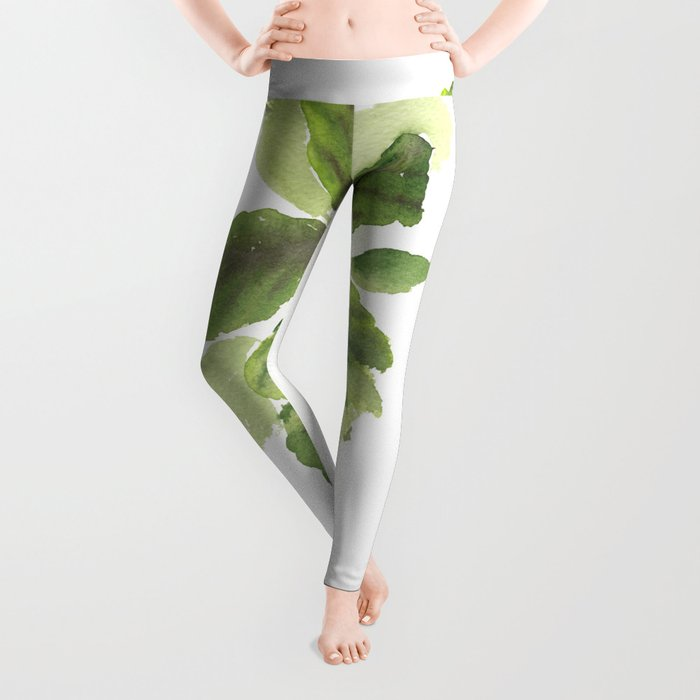 Fiddle-Leaf Fig (Watercolor) Leggings
