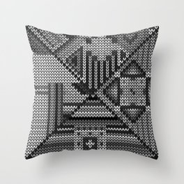 grey knit Throw Pillow
