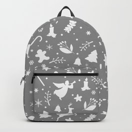 Gray Christmas pattern Backpack