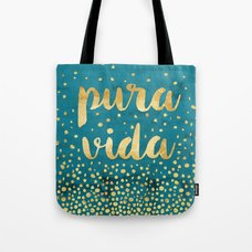 VIDA Tote Bag - red music blue moon by VIDA