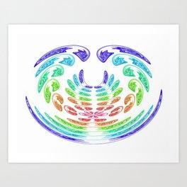 rainbow aggressive Art Print