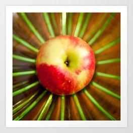 Apple on Mom's green plate Art Print