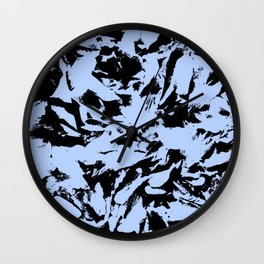 Blue Black Pattern Military Camouflage Wall Clock