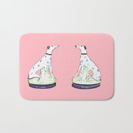 STAFFORDSHIRE GREYHOUND TWINS Bath Mat
