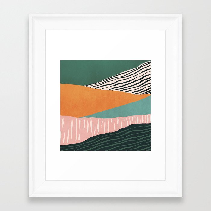 Modern irregular Stripes 02 Framed Art Print