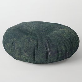 Mystic Pines - A Forest in the Fog Floor Pillow