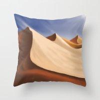 desert Throw Pillows featuring Desert by Turul