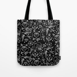 Black flash Tote Bag