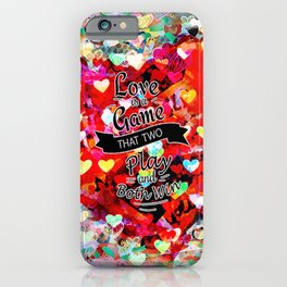 Two Winners Hearts iPhone Case