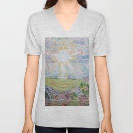Edvard Munch - The Sun Unisex V-Neck
