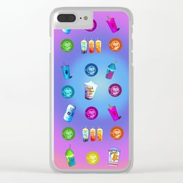 Pattern Dutch bros coffee Clear iPhone Case