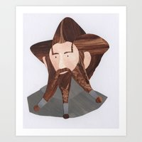 nori Art Prints featuring Nori by Stacey Knights