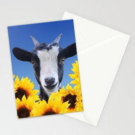 Goat in Sunflower field Stationery Cards