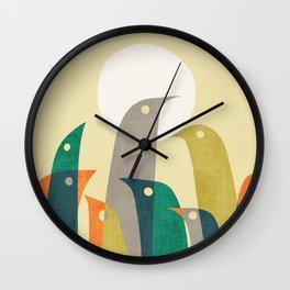 Wild birds at the beach Wall Clock