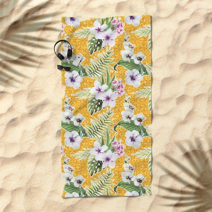 Tropical Summer #15 Beach Towel