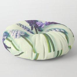 Pretty Blue Flowers Floor Pillow