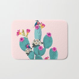 Cactus Hummingbirds Bath Mat