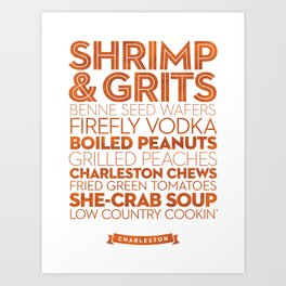 Charleston — Delicious City Prints Art Print
