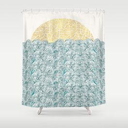 Sunny Tribal Seas Shower Curtain