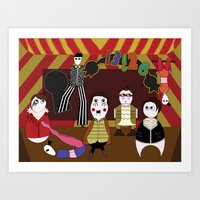 panic at the disco Art Prints featuring Panic! At The Disco Jeremyville Fan Art by Eileen Fioramonti