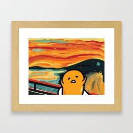 Gudetama's Scream Framed Art Print