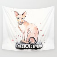 coco Wall Tapestries featuring They Call Me Coco by anna hammer