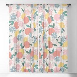 Citrus crush Sheer Curtain