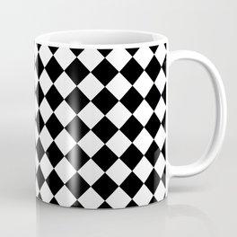 schwarz weiß kariert 2 Coffee Mug