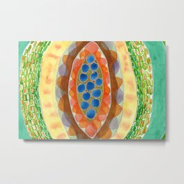 The Inner Beauty of a Fruit Metal Print