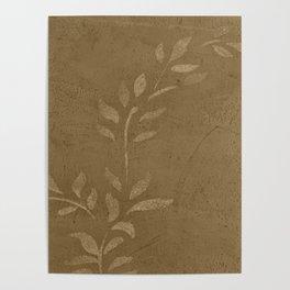 Sepia Vine Vintage Floral - Rustic - Hygge - Modern - Vintage - Farmhouse Poster