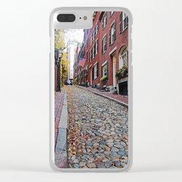 Acorn street views Clear iPhone Case