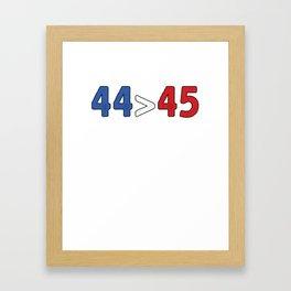 44 Turning 45 Framed Art Print