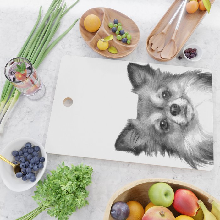 Black and White Chihuahua Cutting Board