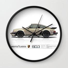 Porsche 1985 911 M491 White Gold Metallic Wall Clock