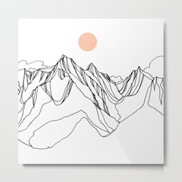 Mount Jumbo :: Single Line Metal Print