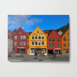 Bergen, Norway Old Town Metal Print